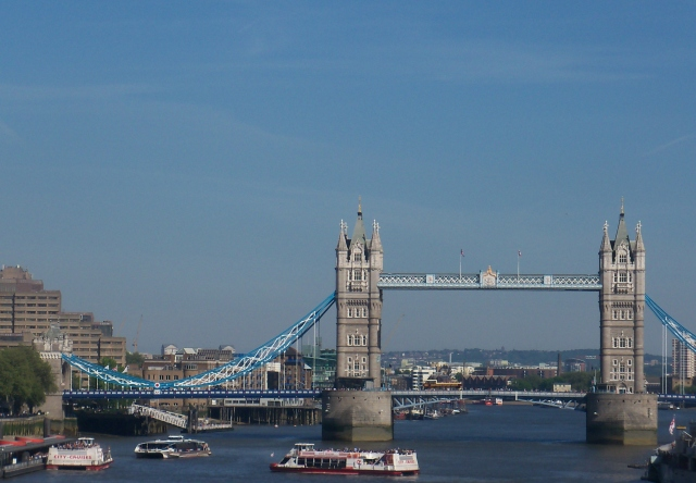 Blue - Tower Bridge and Blue Skies over London