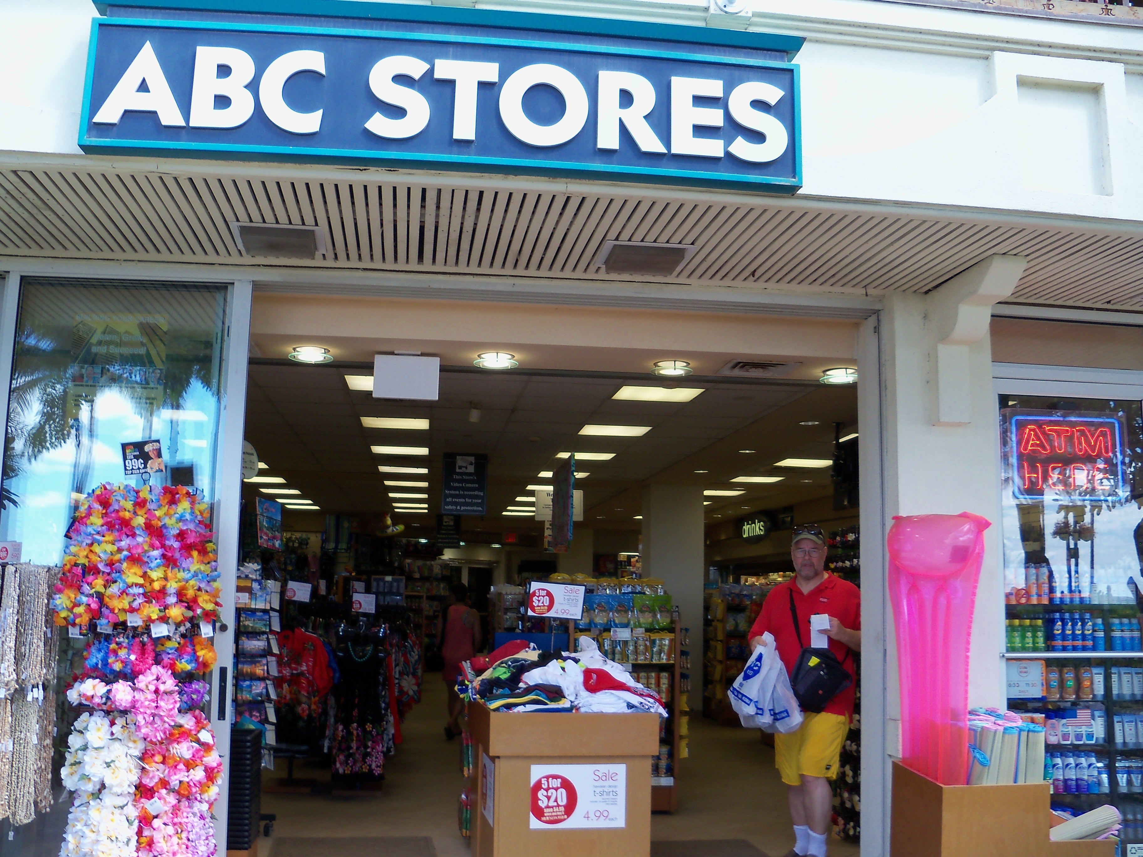 ABC Stores is a chain of convenience stores based in Honolulu owned by MNS Ltd. The chain operates 73 stores, 57 of which are located in the state of Hawaii, with the remaining locations in the Mariana Islands and Las Vegas.
