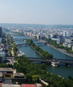 Portion of the Seine, from the Eiffel ower