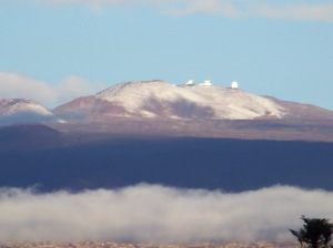 The observation station on Mauna Kea