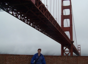 Me and the Golden Gate Bridge, from Fort Point