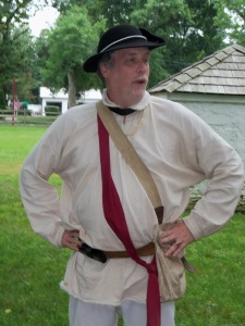 Washington's Crossing Guide in Colonial garb